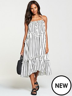 v-by-very-stripe-tiered-midi-dress-monochrome