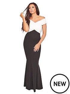 jessica-wright-cassilanbspcrossover-maxi-dress-blackwhite