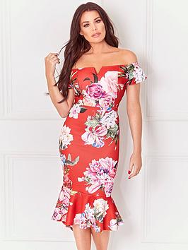 Free Shipping From China Floral Dress Jessica Wright Bardot  Juliane Purchase Clearance Low Price Fee Shipping For Nice Online 0tVy4