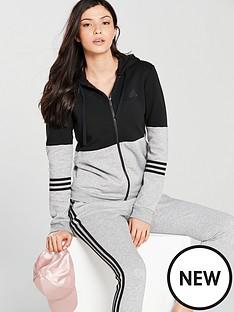 6a2d5401ff37 adidas Energize Cotton Tracksuit - Black Grey
