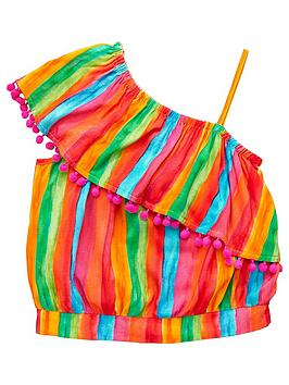 v-by-very-girls-rainbow-stripe-one-shoulder-blouse-multi