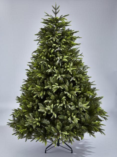 8ft-sherwood-real-look-full-christmas-tree-with-metal-stand
