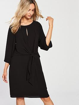 wallis-knot-front-dress-black