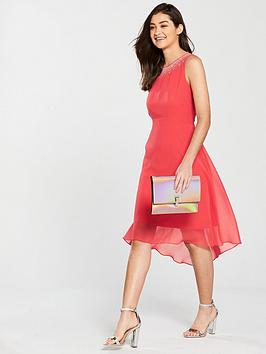 Hotfix Dress Coral Neck  Wallis Asymmetric Pre Order Ost Release Dates Discount Websites Discount New 2UlNWn