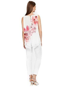 Flower  Spray Layer Petite Wallis White Double Top Factory Outlet Best Place To Buy Online Clearance Big Discount Inexpensive Online Cheap Reliable dWVfauCwbl