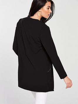 Scuba Jacket Black nbsp Wallis Longline Free Shipping Marketable Discount Amazing Price Cheap 2018 Newest Nice Sale Best Seller wfuJ3