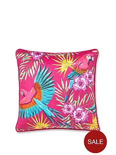 catherine-lansfield-tropical-parrot-cushion