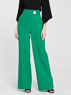 v-by-very-wide-leg-fashion-trouser-green