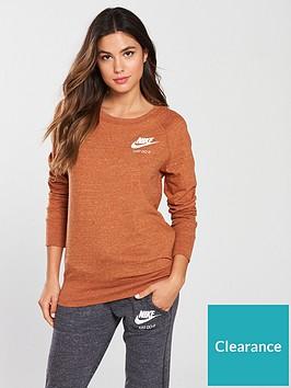 nike-sportswearnbspgym-vintage-crew-sweat-russet-brownnbsp