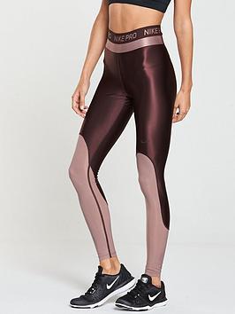 nike-training-metallic-sheen-tight-burgundy