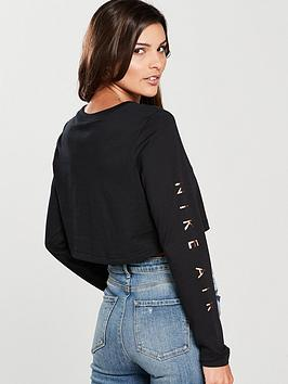 Outlet Cost Buy Online Cheap Sleeve Top nbsp  Sportswear Air Black Long Nike vcpwgVRch