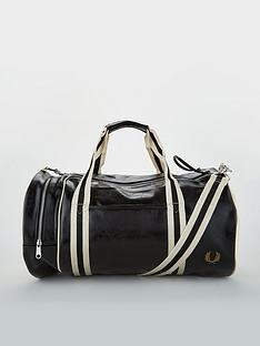 fred-perry-classic-barrel-bag-blackwhite