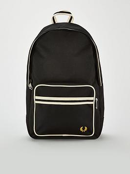 fred-perry-twin-tipped-backpack-black