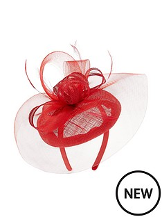 accessorize-crin-pillar-box-fascinator-red