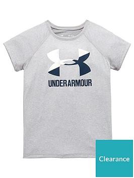 under-armour-girls-big-logo-tee-greynbsp