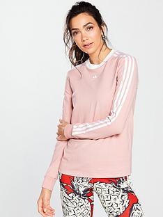 adidas-originals-3-stripes-long-sleeve-top-pinknbsp
