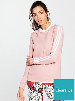 e9d9081d98c adidas Originals 3 Stripes Long Sleeve Top - Pink ...
