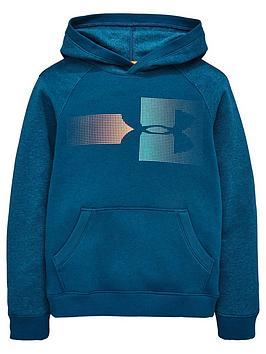 under-armour-boys-rival-logo-hoodie-tealnbsp