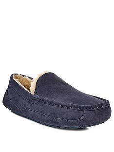 ugg-ascot-suede-slipper-navy