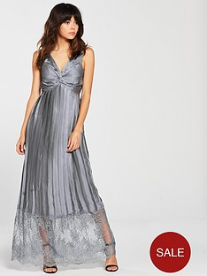 little-mistress-plunge-v-neck-satin-lacenbsphem-maxi-dress-pewter