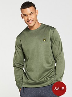 lyle-scott-fitness-fitness-braid-fleece-crew-neck-sweat