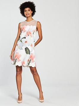 White  Caprila Scallop Chatsworth Ted Dress Bloom Baker Cheap Sale Affordable Cheap Shop Wiki Cheap Price MY1ci
