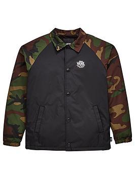 98386d4c0b3 Vans Boys Torrey Coach Jacket - Black Camo