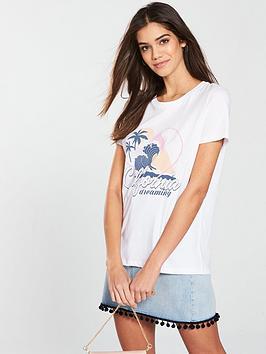 Very California V by  shirt White Slogan T Cheap Sale Authentic WqDsFDjz