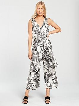 Jungle Warehouse Print Jumpsuit Black White Footlocker Cheap Online Discount Eastbay PZFR4q