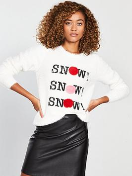 v-by-very-snow-snow-snow-pom-pom-fluffy-christmas-jumper-cream