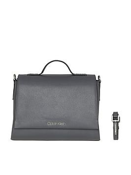 calvin-klein-calvin-klein-grey-frame-top-handle-satchel-bag