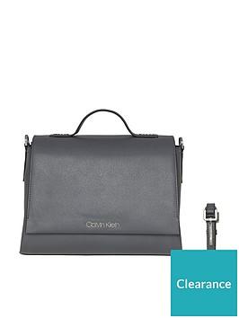 calvin-klein-calvin-klein-grey-frame-top-handle-satchel-bag