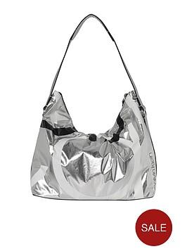 calvin-klein-loud-mettalic-hobo-bag