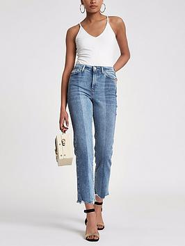 River River Mid Leg Jeans Island Blue Bella Island Straight Pay With Visa Online v0bDWD683w