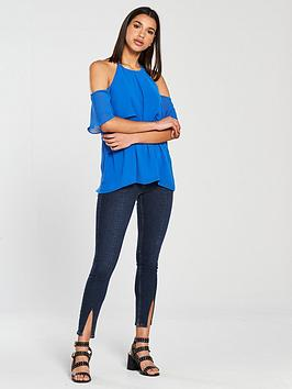 Blue Frill Blouse Island River Comfortable For Sale 5Gq2FbsDB