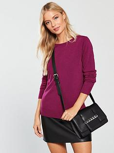 v-by-very-supersoft-crew-neck-jumper-raspberry