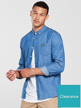lyle-scott-lyle-amp-scott-denim-shirt