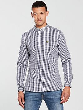 lyle-scott-lyle-amp-scott-ls-slim-fit-gingham-shirt