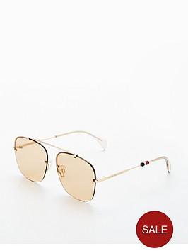 tommy-hilfiger-brow-bar-sunglasses-browngold