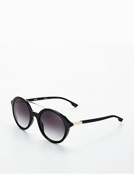 boss-round-brow-bar-sunglasses-black