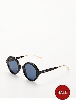 max-mara-round-sunglasses-black
