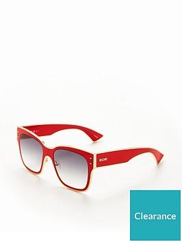 moschino-square-sunglasses-red