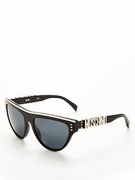 moschino-logo-arm-sunglasses-tortoiseshell