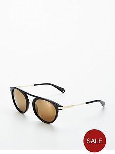 polaroid-polaroid-round-gold-lens-black-brow-bar-sunglasses