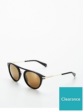 polaroid-polaroid-round-gold-lens-black-brow-bar-sunglasses