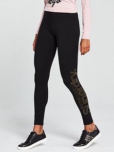 superdry-rhine-stone-logo-legging-black
