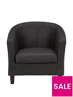 majestic-faux-leather-tub-chair