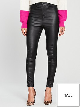 V by Very Tall Addison Coated Super High Waisted Super Skinny Jean - Black 0eaebb2c1