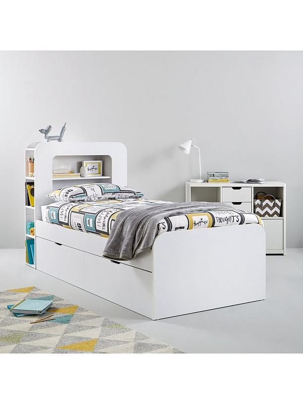 Aspen Kids Single Storage Bed With Mattress Options Buy And Save Littlewoodsireland Ie
