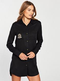 superdry-cora-military-shirt-dress-black